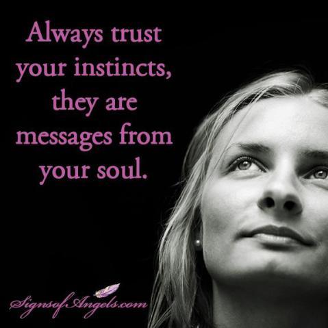 86 trust your instinct